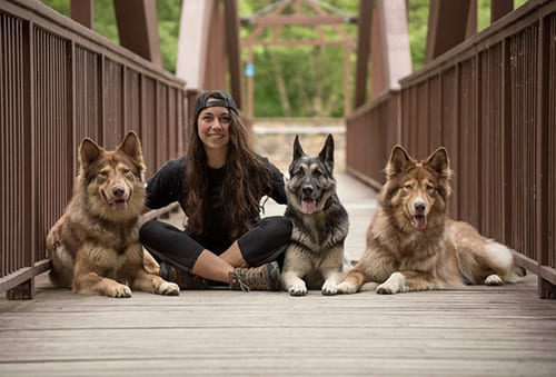 Cassie Wagner and Pups
